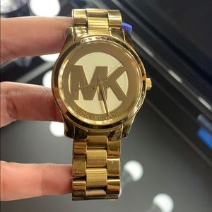Michael Kors Women's Runway Gold- Tone watch